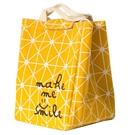 Houya飯盒袋手提上班帶飯包鋁箔加厚大容量保溫袋便當包顏色隨機 陽光好物