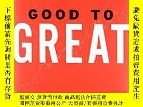 二手書博民逛書店英文原版書罕見Good to Great: Why Some C