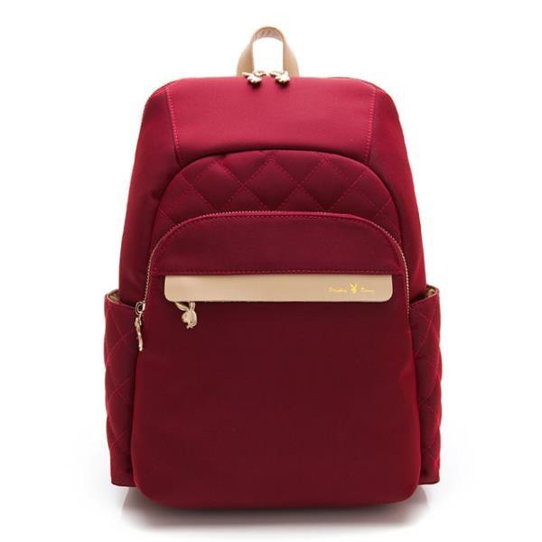 【南紡購物中心】PLAYBOY- 後背包 質感新生活系列 -紅色