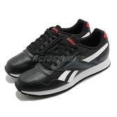 【海外限定】Reebok 休閒鞋 Royal Glide 黑 白 紅 皮革 男鞋 運動鞋 百搭款【ACS】 FW6707