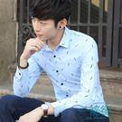 長袖襯衣服修身休閒韓版學生襯衫