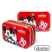Deseno Disney 迪士尼 米奇系列 90週年 限量 紀念 手拿包 收納盥洗包 化妝包 航空硬殼包 201 甜蜜紅
