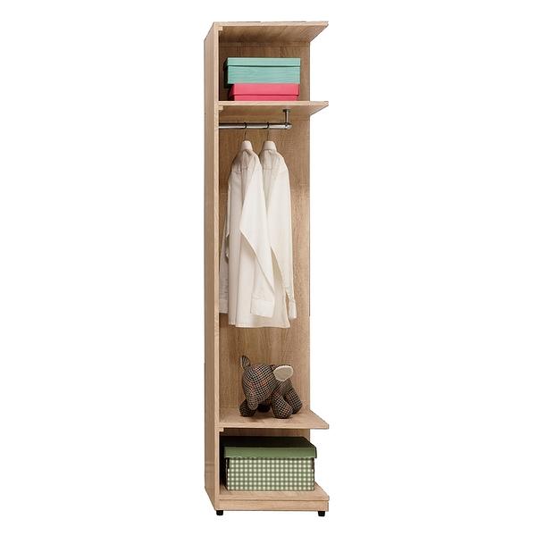 【森可家居】葛瑞絲1.5尺轉角開放衣櫃(編號5) 8ZX310-4 衣櫥 北歐風 系統式設計 可隨意配置