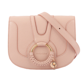 【SEE BY CHLOE】HANA bag 小型皮革斜背包(蜜粉色) CHS17SS896305 6K0