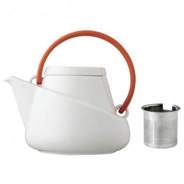KINTO Ridge 潤沏茶壺 經典橘紅