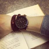 手錶韓國女學生簡約大錶盤個性潮流情侶手錶女時尚風石英手錶男錶限時一周下殺75折
