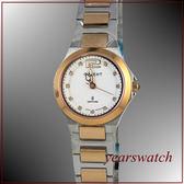 ~萬年鐘錶~ORIENT 東方 玫瑰金半金小超薄鋼錶HM52X35S