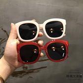 韓版chic風百搭大框方形墨鏡女時尚凹造型太陽眼鏡男【時尚大衣櫥】