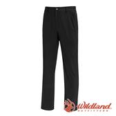 【wildland 荒野】男 日本紗彈性抗UV長褲『黑色』0A71302 戶外|登山|休閒|釣魚|彈性|抗紫外線