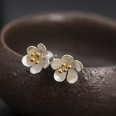 耳環 925純銀-唯美梅花生日情人節禮物女飾品73hl35【時尚巴黎】