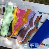 6雙裝 女薄款長筒襪子糖果色中筒襪天【千尋之旅】