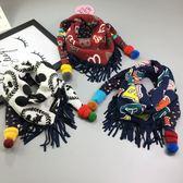 秋冬款韓版兒童圍巾棉三角巾男童女童可愛寶寶冬季雙面保暖圍脖潮