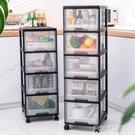 廚房置物架可行動臥室帶輪儲物櫥櫃落地家用多層整理櫃收納神器 ATF 夏季狂歡