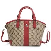 PLAYBOY- 手提包附長背帶 經典方格兔系列-紅色