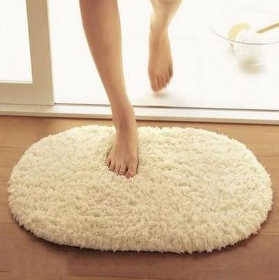 加厚 超柔羊羔絨地毯可水洗橢圓浴室吸水地墊廚房門墊衛生間腳墊