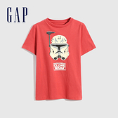 Gap男童 Gap x Star Wars星際大戰系列夜光短袖T恤 689879-紅色