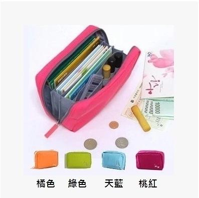 韓版 多功能大容量存摺印章收納包 化妝包 理財包 手機包 筆袋 零錢包 手機包 皮夾 錢包【RB334】