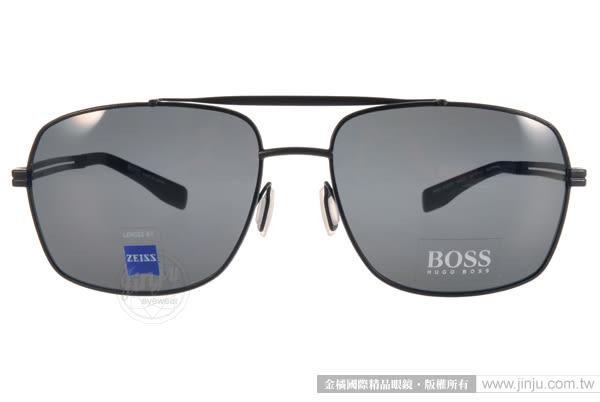 HUGO BOSS 太陽眼鏡 HB0722FS HDQ7O (黑) 男士時尚飛行偏光款(蔡司鏡片) # 金橘眼鏡