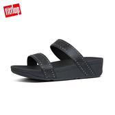 FitFlop】LOTTIE MICROSTUD SLIDES精緻鉚釘設計雙帶涼鞋-女(靚黑色)