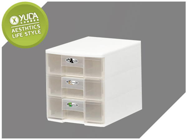 【YUDA】樹德 PC-1103 (3抽) 收納玲瓏盒 / 文件盒 / 收納盒