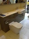 【麗室衛浴】浴室改修利器  半崁造型/三孔檯面龍頭+隱藏水箱/造型馬桶+整體防水PVC浴室櫃目錄