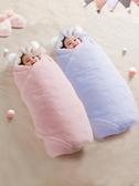 新生嬰兒抱被包被秋冬季夾棉外出兩用抱毯初生寶寶珊瑚絨襁褓包巾