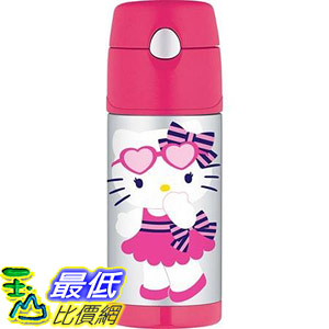 [107美國直購] Thermos 12 Ounce Funtainer Bottle, Hello Kitty Hearts