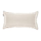 HOLA 新素色織紋抱枕30x60cm 米色