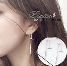 耳環 現貨 女神必備氣質百變設計925銀針後掛2用耳環 S91334 批發價 Danica 韓系飾品 韓國連線