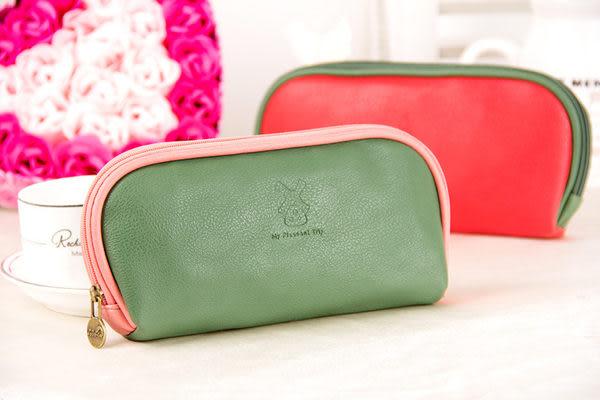 化妝包【JS精心苑】加州陽光化妝包 皮質多功能收納包 時尚手拿女士化妝包/配件/萬用包/拉鏈包