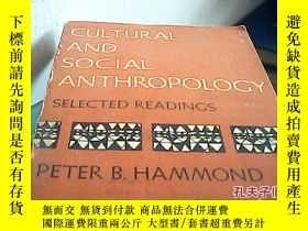 二手書博民逛書店cultural罕見and social anthropolog