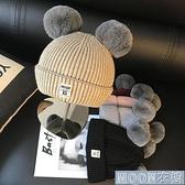 兒童帽子 嬰兒帽子秋冬季6個月-2歲1兒童針織帽男童套頭帽女寶寶保暖毛 快速出貨