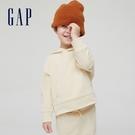 Gap男幼童 簡約風純色運動連帽休閒上衣 747179-米黃色