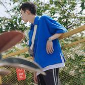 【雙12】全館大促新款假兩件polo衫男士青年潮流短袖體恤衫寬鬆翻領半截袖