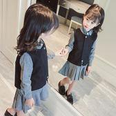 女童套裝秋裝2018新款韓版中大兒童洋氣兩件套女孩時尚秋季潮裙子