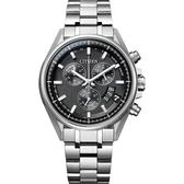 加碼第3年保固*CITIZEN 星辰 限量 鈦 光動能電波萬年曆手錶-黑x銀/43mm BY0140-57E