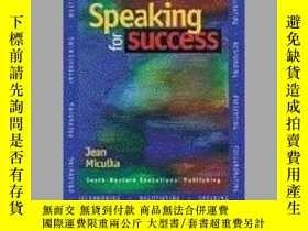 二手書博民逛書店Speaking罕見for SuccessY23583 Miculka, Jean H. ISBN:9780