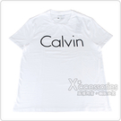 CK Calvin Klein 經典黑色字母大LOGO造型男仕短袖T恤(L/XL/白)
