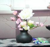【協貿國際】新古典餐桌裝飾黑色鐵藝花瓶金屬家居擺件