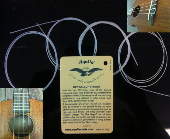 【金聲樂器廣場】全新 烏克麗麗弦 AQUILA 21吋 23吋 26吋 義大利弦~一套4條