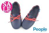 People 男童防水休閒鞋 The Senna 繫繩結 輕量洞洞鞋 水陸鞋J9475#藍色◆OSOME奧森童鞋