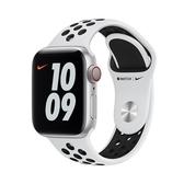 【免運費】Apple Watch Series 6 GPS Nike+ GPS 40mm 銀鋁錶殼白底黑洞運動錶帶M00T3TA/A