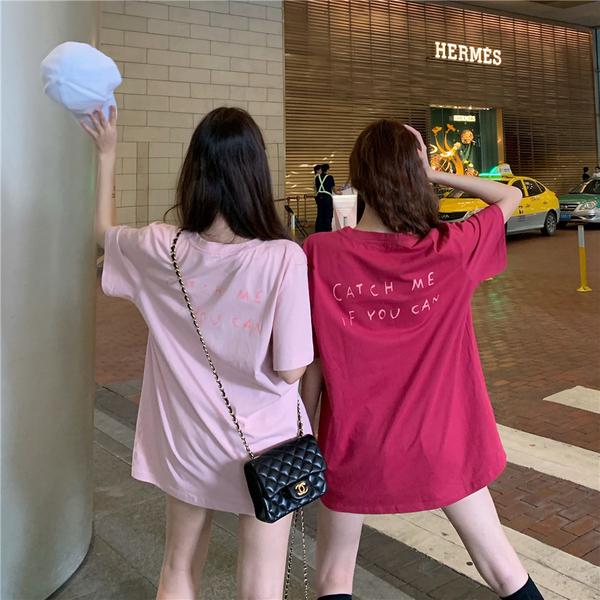 DE shop - 百搭可愛兔兔短袖T恤 - T-7501
