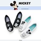 Disney 個性米奇歡樂貼 仿皮平底便鞋