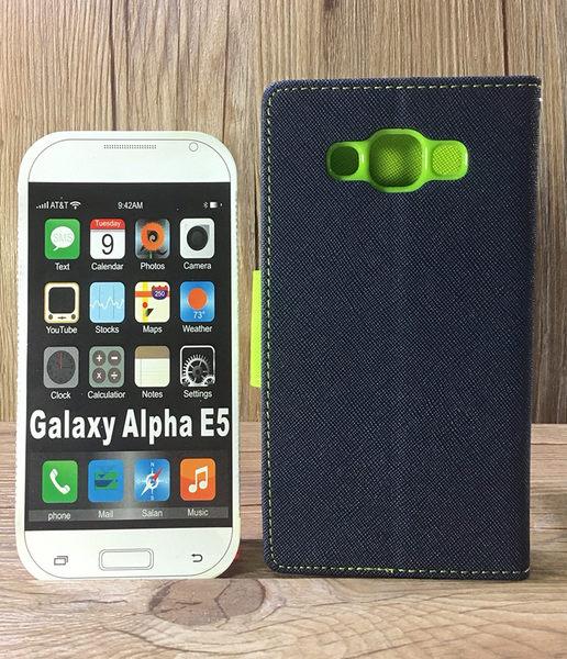 ◎福利品側翻皮套 SAMSUNG Galaxy E5 SM-E500/E7 SM-E700 撞色皮套 可立式 插卡 保護套 手機套