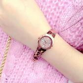 女士手錶防水時尚款新款韓版簡約潮流鎢鋼女錶情侶石英錶免費刻字