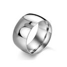 316L醫療鋼 極寬弧形亮面 寬版戒指-...