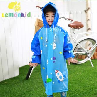 半島良品★正韓蝴蝶星球造型EVA兒童雨衣-藍色宇航員