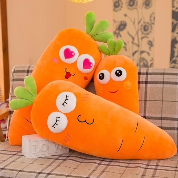 胡蘿卜抱枕毛絨玩具蘿卜大公仔懶人睡覺床上布娃娃玩偶枕頭女超軟【交換禮物】