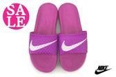 NIKE拖鞋 女款  BENASSI SOLARSOFT 防水拖鞋 N7067#桃紫 零碼出清 ◆OSOME奧森童鞋/小朋友